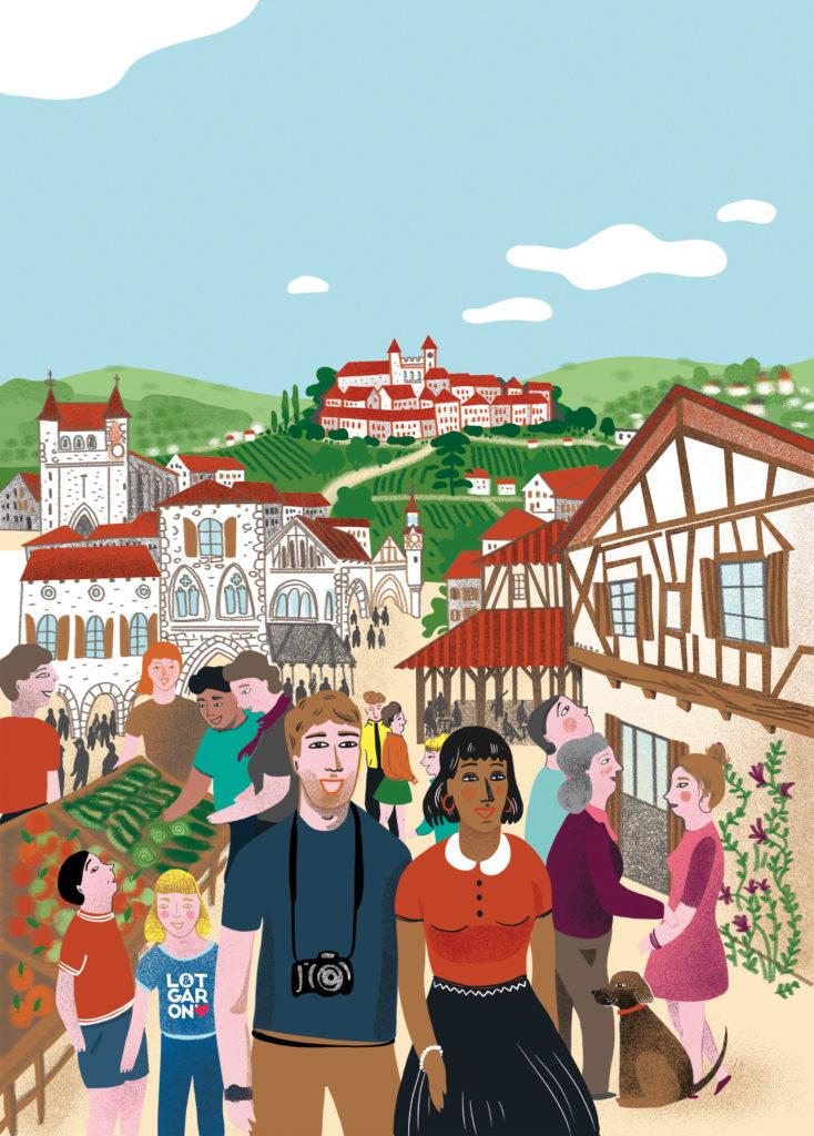 Illustration Villages du Sud-Ouest Aquitaine Lot-et-Garonne bastides