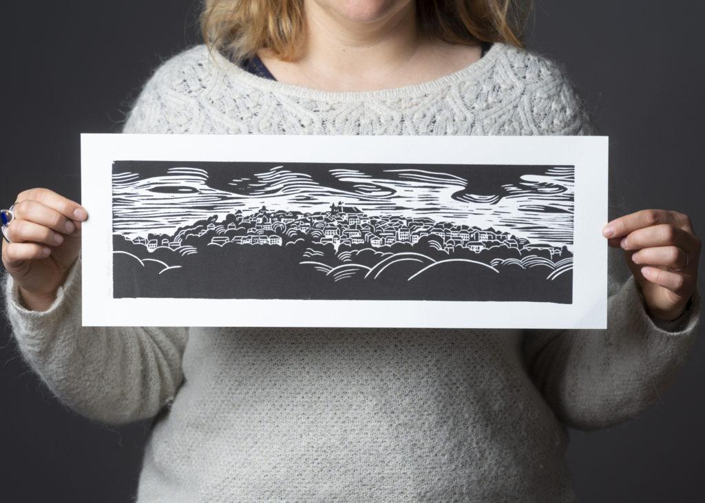 gravure paysage